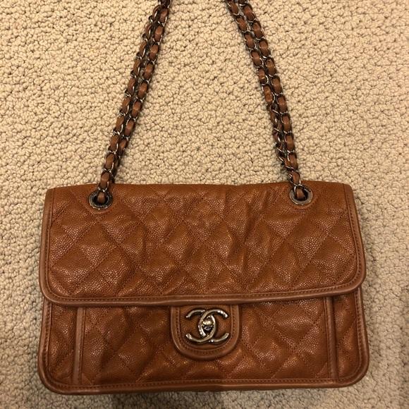b37ed905a9bdb0 CHANEL Bags | Auth French Riviera Brown Caviar Flap Bag | Poshmark